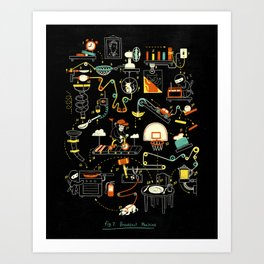 Breakfast Machine Art Print