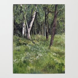 Woodland Forest Landscape Nature Art Poster
