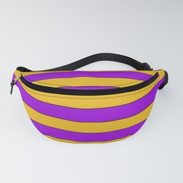 Yellow, purple stripes Fanny Pack
