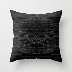 Cheeseburger Optical Illusion Throw Pillow