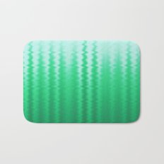 Green and Blue Ombre Soft Wavy Lines Bath Mat