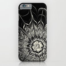 Monochrome Abstract Flower Slim Case iPhone 6