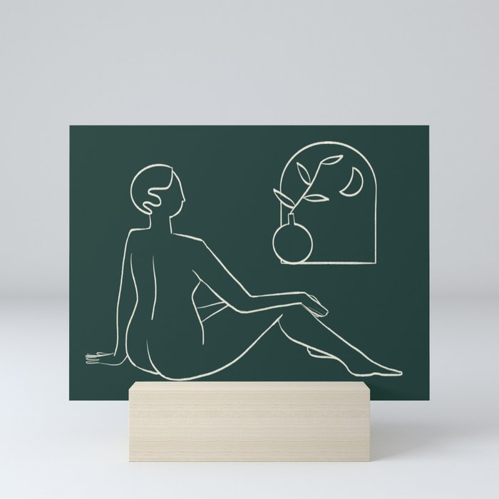Gaze  Mini Art Print