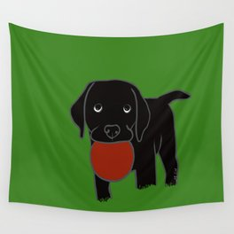 Black Lab Puppy Wall Tapestry