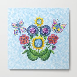 Butterfly Playground on a Summer Day Metal Print