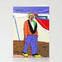 clown Stationery Cards featuring clown by Karl-Heinz Lüpke