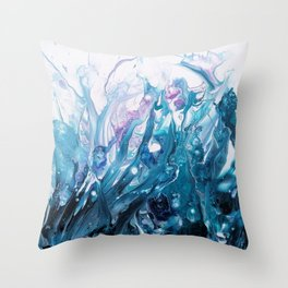 Mysterious tide Throw Pillow