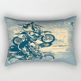 Dirt Track - Motocross Racing Rectangular Pillow