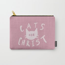 Cats for Christ x Rose Carry-All Pouch
