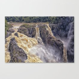 Powerful water going over the falls Canvas Print