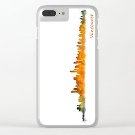 Vancouver Canada City Skyline Hq v01 Clear iPhone Case