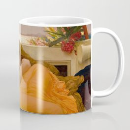 Flaming June Oil Painting by Frederic Lord Leighton Coffee Mug