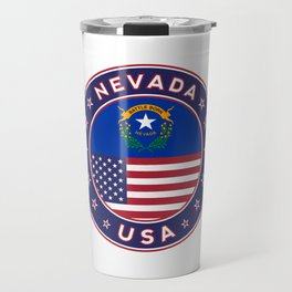 Nevada, USA States, Nevada t-shirt, Nevada sticker, circle Travel Mug