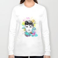 audrey Long Sleeve T-shirts featuring Audrey by Featured Interiors