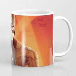 Captain The First  Avenger America by Big Foot Studios Coffee Mug