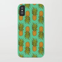 pineapples iPhone & iPod Cases featuring Pineapples by Stephanie Keir