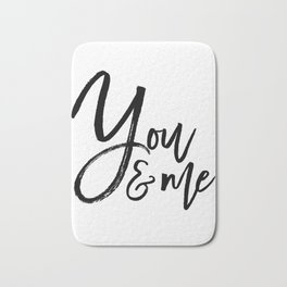 you and me embroidery wedding embroidery design ampersand applique Bath Mat
