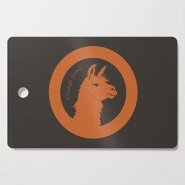 Orange Llama Cutting Board