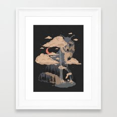 At the Foot of Fox Mountain... Framed Art Print