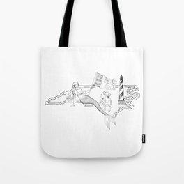 North Carolina Mermaid Tote Bag