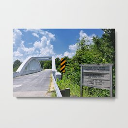Marsh Arch Bridge on route 66. Metal Print