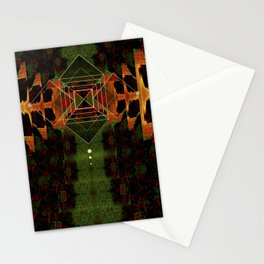 Square Geometry Texture Stationery Cards