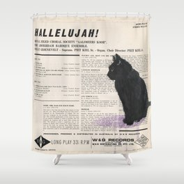 His Master's Voice - Cat Shower Curtain