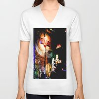 concert V-neck T-shirts featuring Concert at Witzend, Venice by Kim Ramage