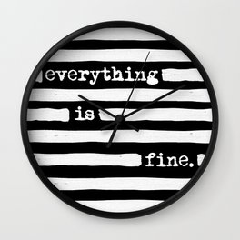 REDACTED! Everything is fine. REDACTED! Wall Clock