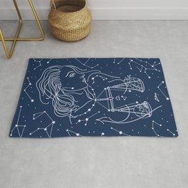 Libra zodiac sign Rug