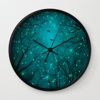 fault Wall Clocks featuring One by One, the Infinite Stars Blossomed by soaring anchor designs