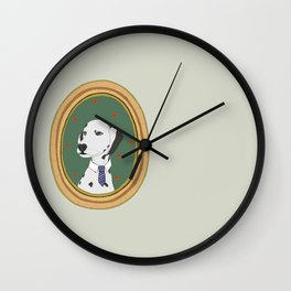 Awesome Dog with necktie Wall Clock