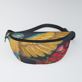 Parrot On Poinciana Branch Fanny Pack