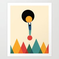 cycle Art Prints featuring Cycle by Andy Westface