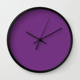 Maximum Purple - solid color Wall Clock