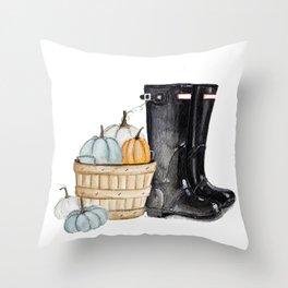 Fall boots Throw Pillow
