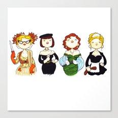 Ladies of Clue Canvas Print