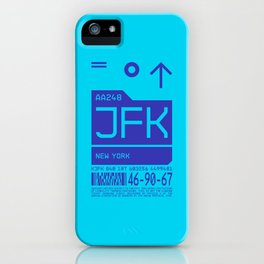 Baggage Tag C - JFK New York John F. Kennedy USA iPhone Case