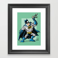 Another Strong man in a super hero costume Framed Art Print