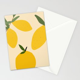 Abstract Lemon Fruit Stationery Cards