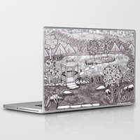 vermont Laptop & iPad Skins featuring Zentangle Vermont Mountain Pond by Vermont Greetings