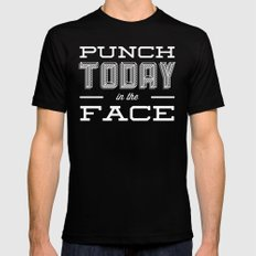 Punch Today in the Face Black Mens Fitted Tee X-LARGE