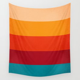VINTAGE RETRO COLORS PATTERN Wall Tapestry