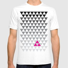 Geometry LARGE White Mens Fitted Tee