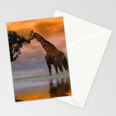 Giraffe at Sunset Stationery Cards