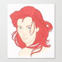 ariel Canvas Prints featuring Ariel by StudioBlueRoom