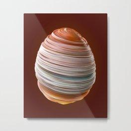 Steamed Egg Metal Print