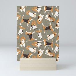 beagle scatter stone Mini Art Print