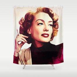 Joan Crawford, Vintage Actress Shower Curtain