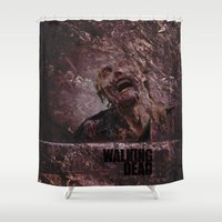 the walking dead Shower Curtains featuring The Walking Dead by Sney1